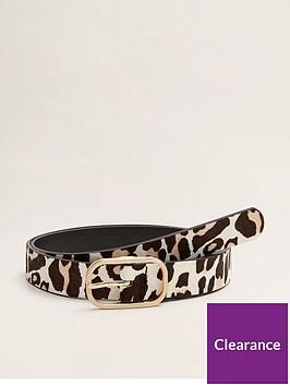 mango-animal-print-belt