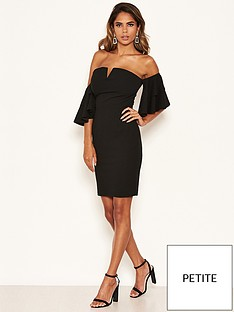 ax-paris-petite-bardot-notch-front-dress-black