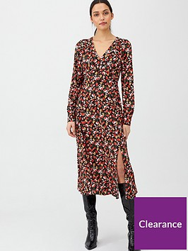 v-by-very-floral-midaxi-button-through-dress-floral-print