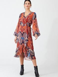 v-by-very-paisley-wrap-midi-dress-print