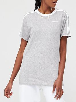 Adidas   3 Stripe Essentials Boyfriend Tee