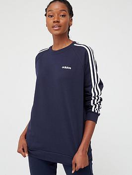 Adidas   Essentials Boyfriend Crew - Navy