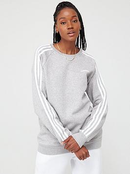 Adidas   Essentials Boyfriend Crew - Medium Grey Heather