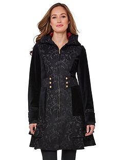 joe-browns-elegant-jacquard-coat-black