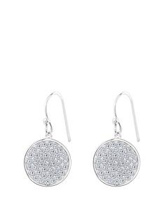 the-love-silver-collection-sterling-silver-crystal-round-hook-drop-pave-earrings