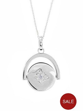 the-love-silver-collection-sterling-silver-cubic-zirconia-spinning-star-pendant-necklace