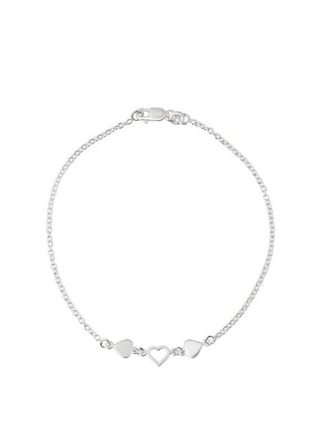 the-love-silver-collection-sterling-silver-triple-heart-anklet