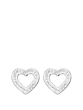 love-diamond-9ct-white-gold-diamond-set-open-heart-stud-earrings