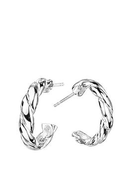 the-love-silver-collection-sterling-silver-twisted-half-hoop-earrings