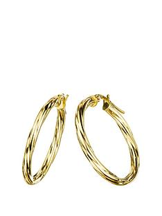 love-gold-9ct-gold-24mm-swirl-hoop-creole-earrings