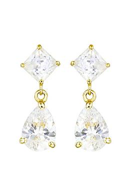 Love GOLD Love Gold 9Ct Gold Cubic Zirconia Pear Drop Stud Earrings Picture