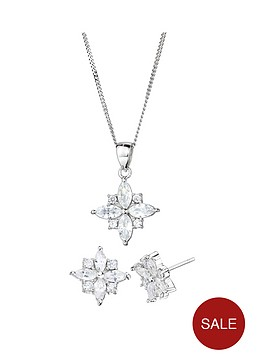 the-love-silver-collection-sterling-silver-cubic-zirconia-star-stud-earrings-and-pendant-set