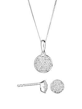 Love DIAMOND Love Diamond 9Ct White Gold 20Pt Total Diamond Round Pave  ... Picture
