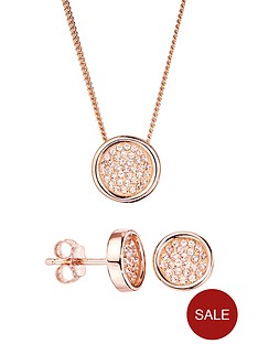 evoke-evoke-rose-gold-plated-sterling-silver-peach-swarovski-crystal-round-stud-earrings-and-pendant-set