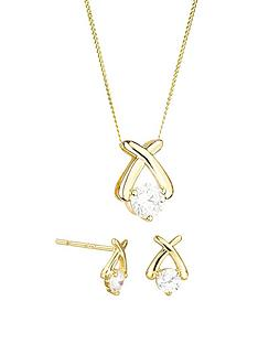 love-gold-9ct-gold-cubic-zirconia-kiss-stud-earrings-and-pendant-set