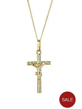 love-gold-9ct-gold-crucifix-pendant-necklace