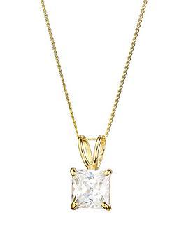 love-gold-9ct-gold-cubic-zirconia-square-solitaire-pendant-necklace