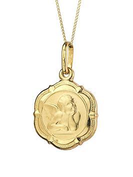 Love GOLD Love Gold 9Ct Gold Cherub Pendant Necklace Picture