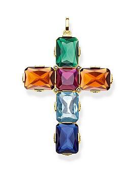 Thomas Sabo Thomas Sabo Magic Stones Colourful Cross Pendant Picture