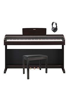 yamaha-yamaha-ydp144-digital-piano-package-in-rosewood-with-piano-stool-headphones-6-months-free-online-lessons