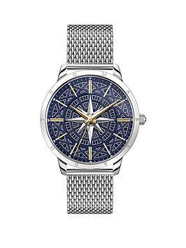 thomas-sabo-rebel-spirit-compass-mesh-strap-two-tone-mens-watch