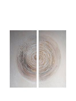 Gallery Gallery Amber Spiral Textured Canvas Picture