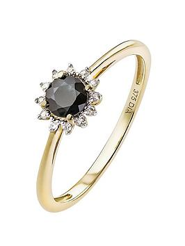 love-gem-9ct-gold-diamond-set-black-sapphire-halo-ring