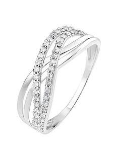 the-love-silver-collection-sterling-silver-cubic-zirconia-double-crossover-ring
