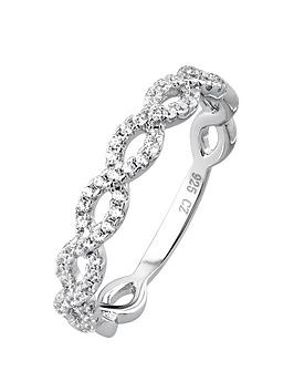 the-love-silver-collection-sterling-silver-cubic-zirconia-weave-ring