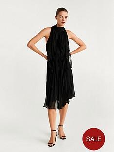 mango-tie-back-pleated-dress