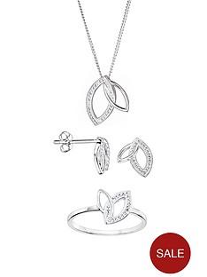evoke-evoke-sterling-silver-swarovski-crystal-interlocking-leaf-stud-earrings-pendant-and-ring-set
