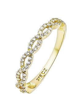love-gold-9ct-gold-cubic-zirconia-weave-ring