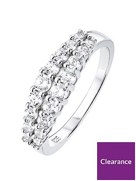 the-love-silver-collection-sterling-silver-cubic-zirconia-two-row-ring