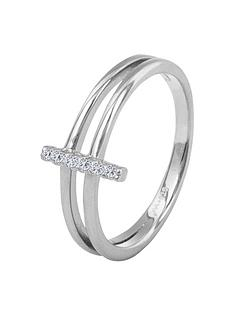 the-love-silver-collection-sterling-silver-cubic-zirconia-dual-band-bar-ring