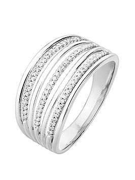 Love DIAMOND Love Diamond Sterling Silver 20Pt Diamond Multirow Ring Picture