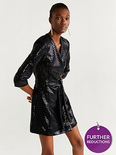 mango-sequin-belted-tux-dress