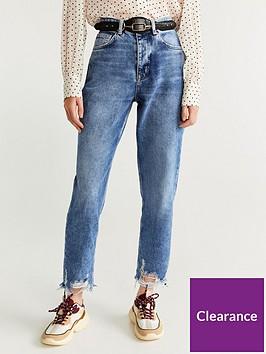 mango-distressed-hem-jeans