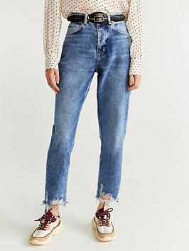 Mango Mango Distressed Hem Jeans Picture