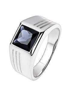 the-love-silver-collection-sterling-silver-square-created-sapphire-ring