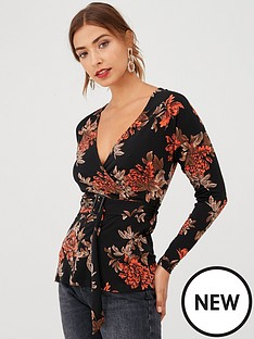 v-by-very-floral-wrap-buckle-jersey-top--nbspprint