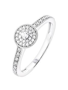 Love DIAMOND Love Diamond 9Ct White Gold 20Pt Brilliant Cut Diamond Double  ... Picture