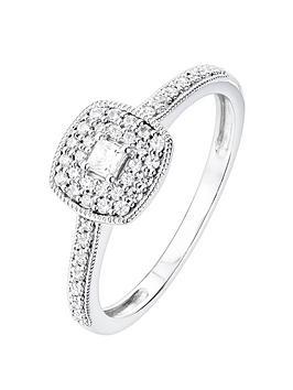 Love DIAMOND Love Diamond 9Ct White Gold 24Pt Princess Cut Diamond Double  ... Picture