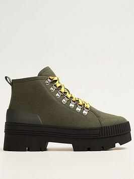Mango Mango Lace Up Hiker Ankle Boot Picture
