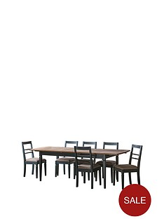 hudson-living-bronte-186-236-cm-extending-dining-table-and-6-chairs-blue
