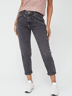 v-by-very-rays-yoke-mom-jeans-washed-black