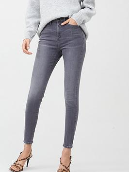 V by Very V By Very Florence High Rise Skinny Jean - Grey Picture