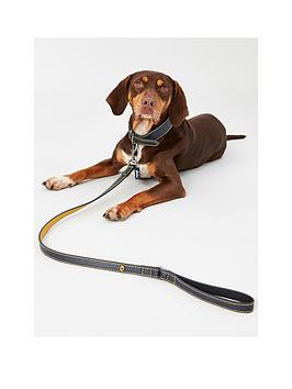 Joules    Navy Leather Collar - Extra Large