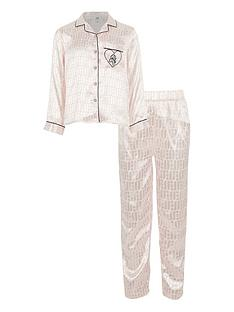 river-island-girls-monogram-pyjama-set-cream