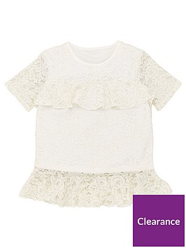 v-by-very-girls-lace-ruffle-top-white