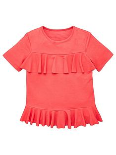v-by-very-girls-peplum-ruffle-top-pink